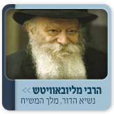 The Lubavitcher Rebbe, King Messiah, may he live forever.
